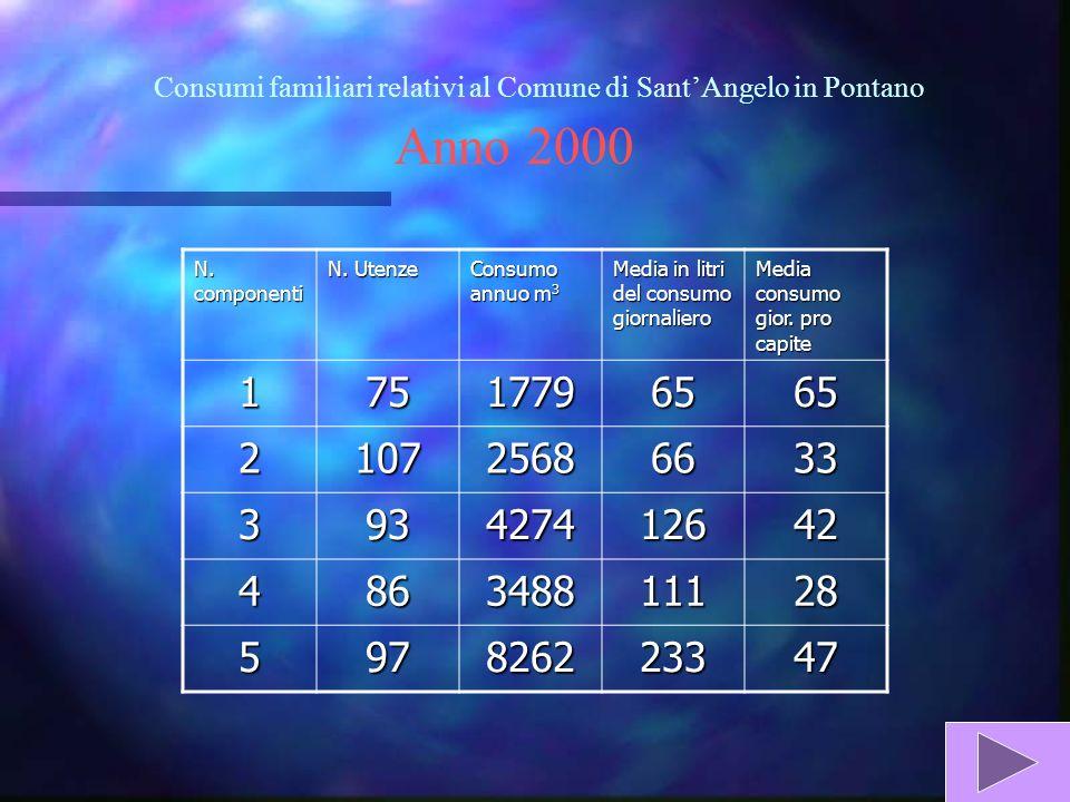 Consumi familiari relativi al Comune di SantAngelo in Pontano N.