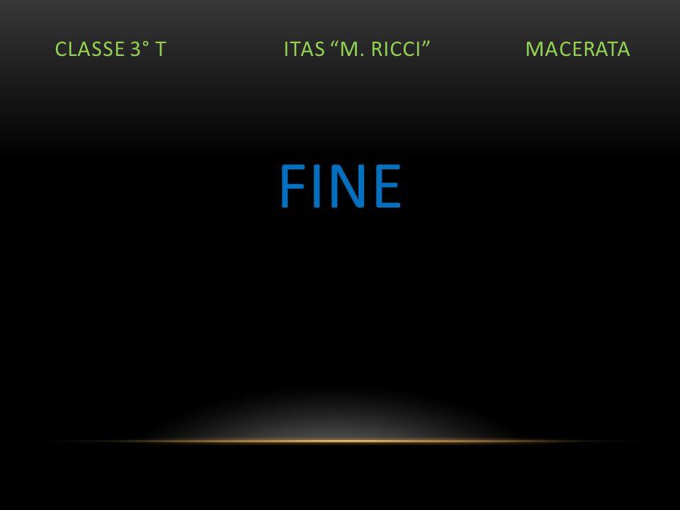 CLASSE 3° T ITAS M. RICCI MACERATA FINE