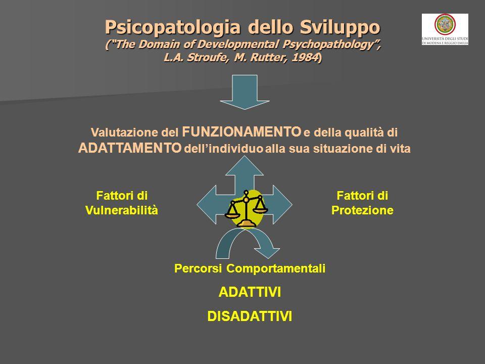 Psicopatologia dello Sviluppo (The Domain of Developmental Psychopathology, L.A. Stroufe, M. Rutter, 1984) Valutazione del FUNZIONAMENTO e della quali