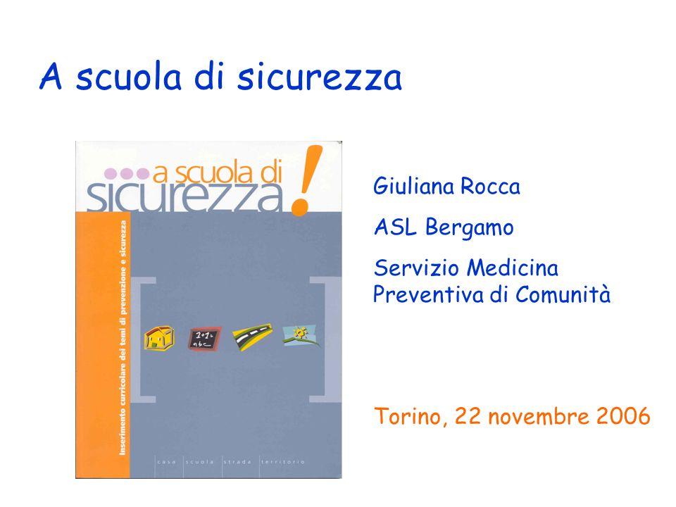 A scuola di sicurezza Giuliana Rocca ASL Bergamo Servizio Medicina Preventiva di Comunità Torino, 22 novembre 2006