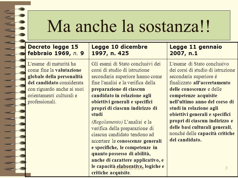 l esame di Stato3 Ma anche la sostanza!.Decreto legge 15 febbraio 1969, n.