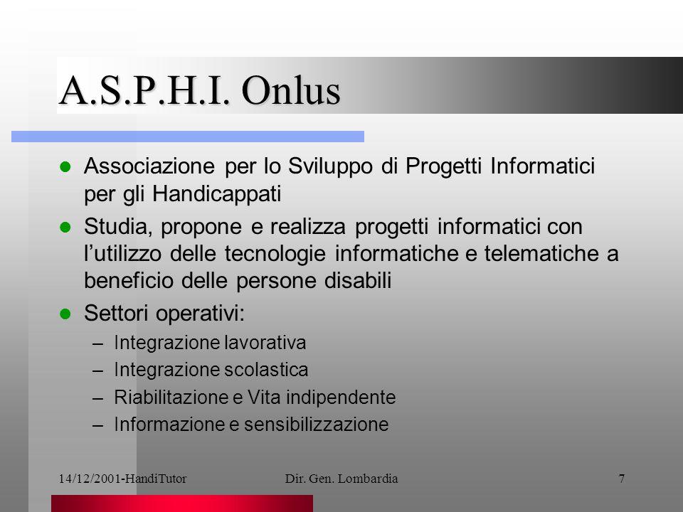 14/12/2001-HandiTutorDir. Gen. Lombardia7 A.S.P.H.I.