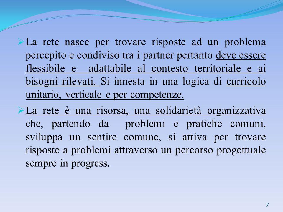 La Rete deve essere caratterizzata da: Flessibilità,continuità,integrabilità.