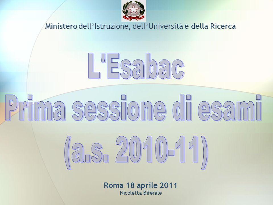 Roma 18 aprile 2011 Roma 18 aprile 2011 Nicoletta Biferale Ministero dellIstruzione, dellUniversità e della Ricerca