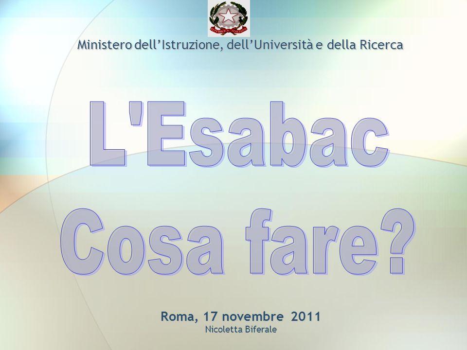 Roma, 17 novembre 2011 Roma, 17 novembre 2011 Nicoletta Biferale Ministero dellIstruzione, dellUniversità e della Ricerca