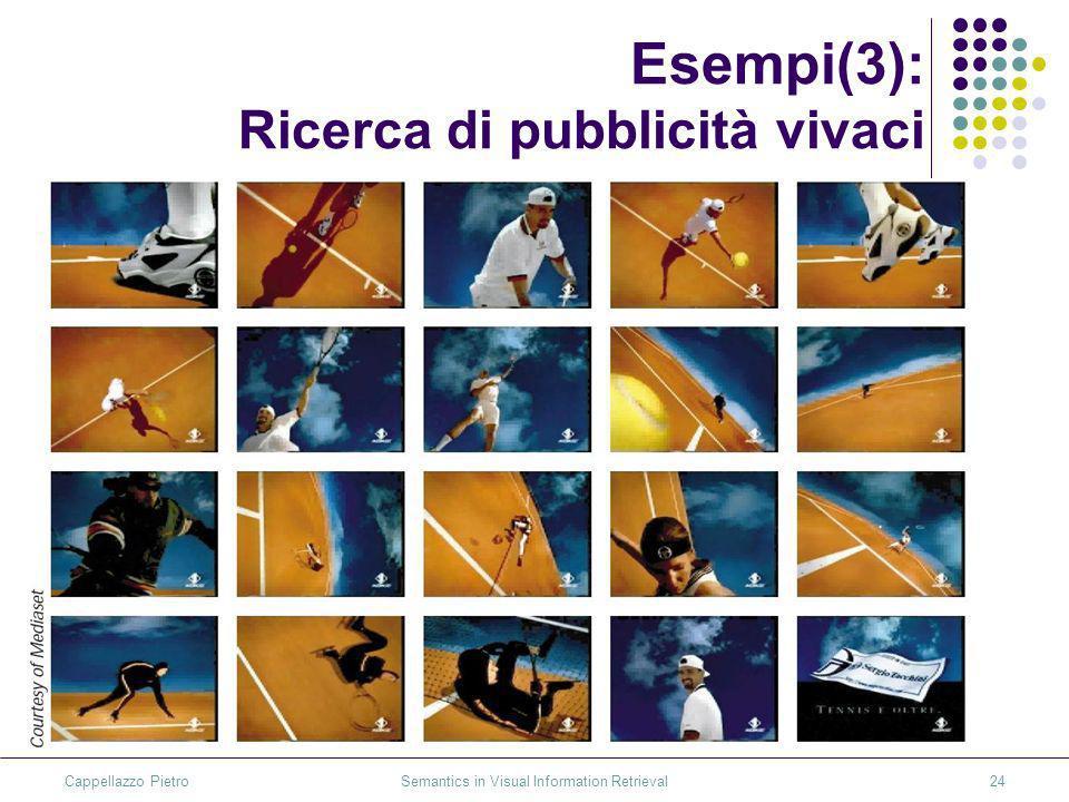 Cappellazzo Pietro Semantics in Visual Information Retrieval24 Esempi(3): Ricerca di pubblicità vivaci