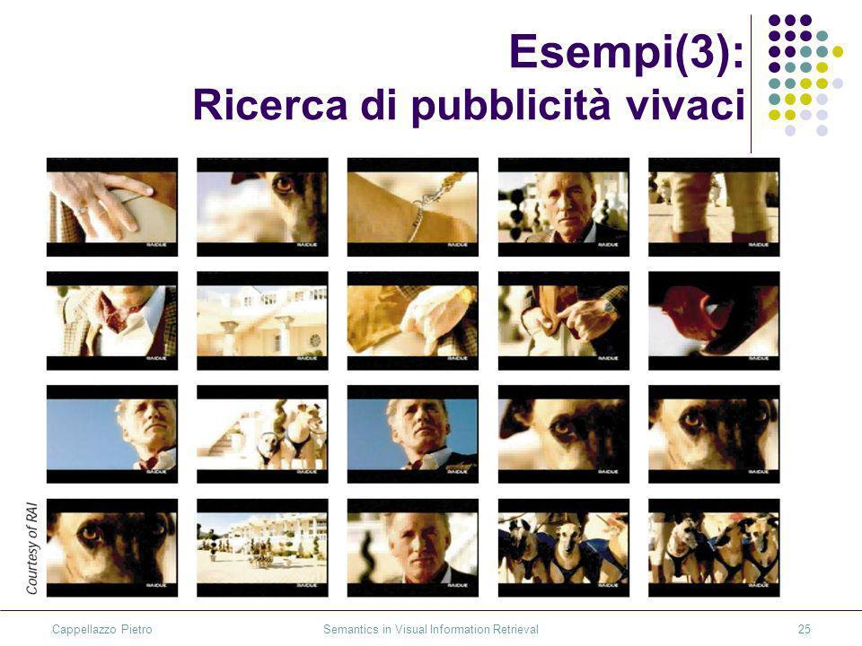 Cappellazzo Pietro Semantics in Visual Information Retrieval25 Esempi(3): Ricerca di pubblicità vivaci