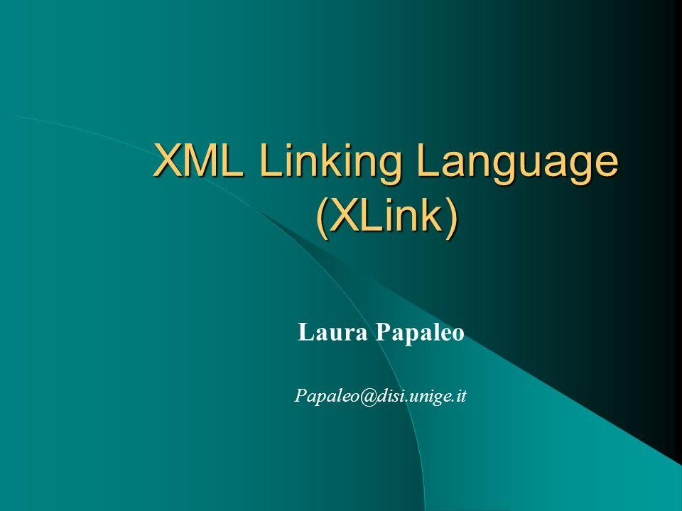 Xlink - Introduzione LXML Linking Language (XLink), è un concetto avanzato di collegamento tra risorse.