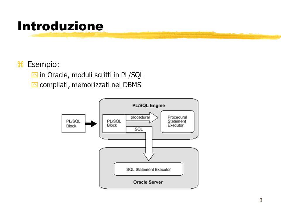 59 JDBC (Java Database Connectivity) zODBC è unAPI sviluppata in C che richiede API intermedie per essere utilizzata con altri linguaggi zInoltre è difficile da capire: alcuni concetti vengono portati a livello interfaccia ma sarebbe meglio mantenerli nascosti zJDBC (che non è solo un acronimo ma un trademark della SUN) è stato sviluppato nel 1996 dalla Sun per superare questi problemi zè compatibile ed estende X/open SQl CLI e ISO SQL/CLI