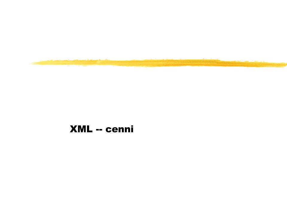 XML -- cenni
