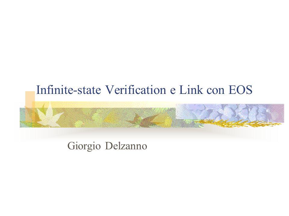 Infinite-state Verification e Link con EOS Giorgio Delzanno