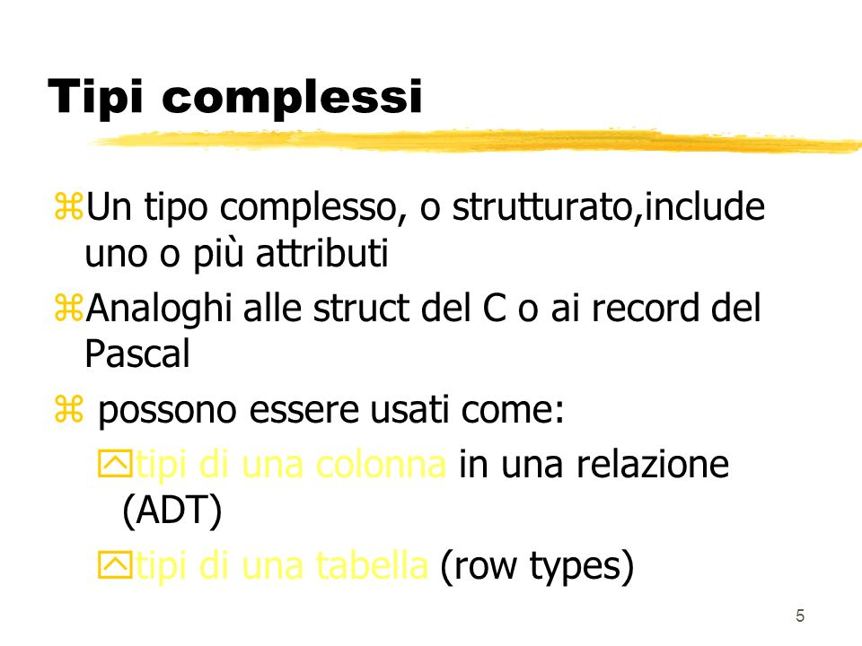 35 Esempio CREATE TRIGGER Codice_Conto BEFORE INSERT on Spese REFERENCING NEW AS N FOR EACH ROW WHEN(N.n_conto IS NULL) SET N.n_conto = (SELECT n_conto FROM Conti WHERE id_dip = N.id_dip AND id_prg = N.id_prg)