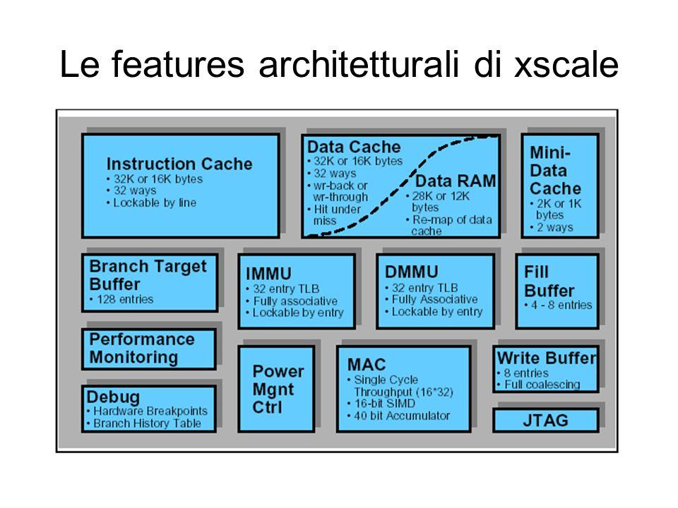Le features architetturali di xscale