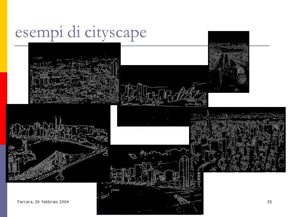Ferrara, 26 febbraio 200435 esempi di cityscape