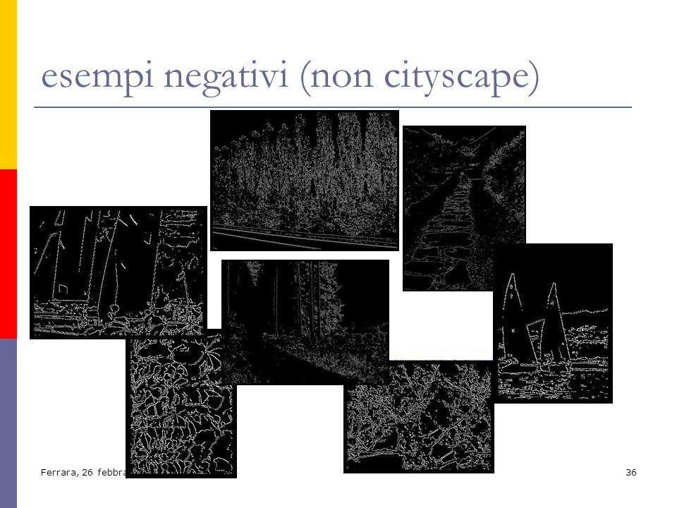 Ferrara, 26 febbraio 200436 esempi negativi (non cityscape)