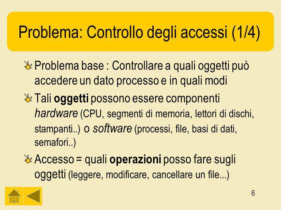 27 Memorizzare le capability (1/2) Ci chiediamo: –Dove vanno a finire quando il sistema è shut-down e come vengono recuperate.