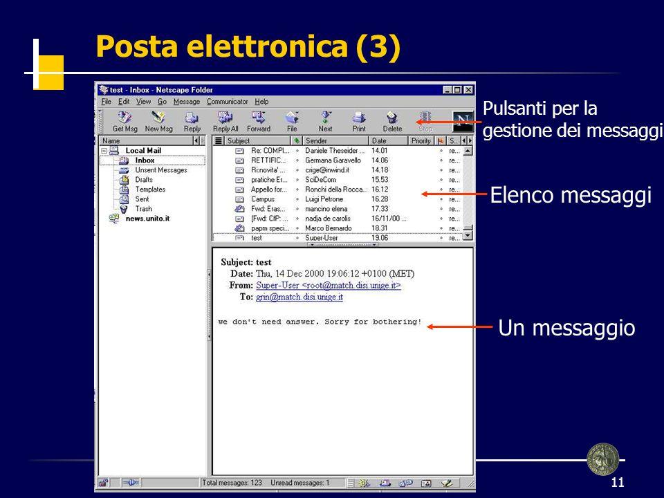 12 Posta elettronica (4) Destinatari Titolo Corpo