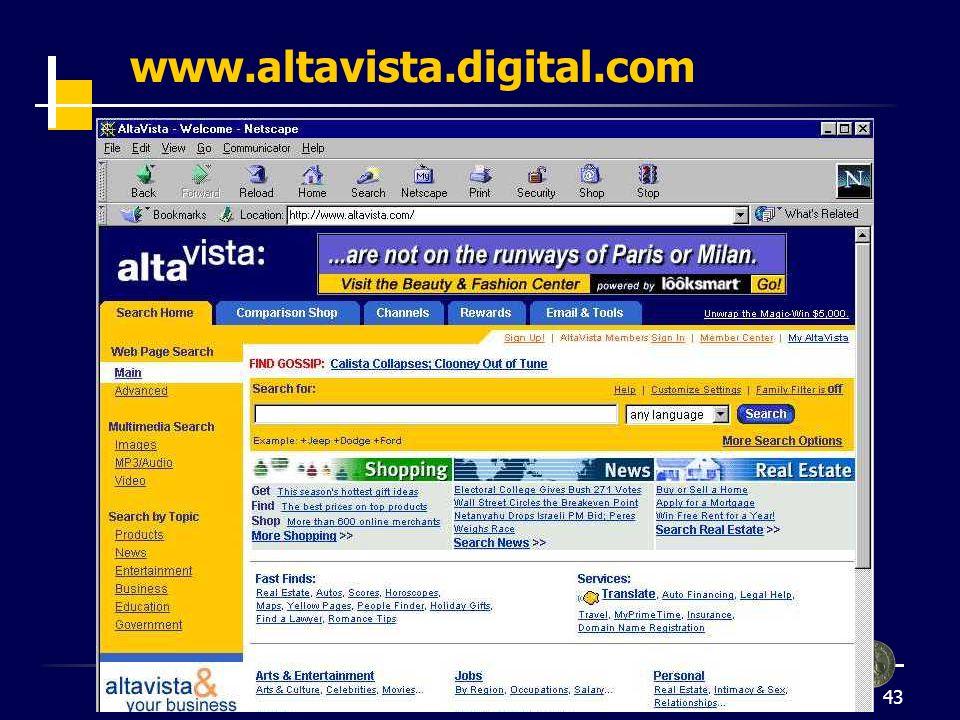 44 www.altavista.digital.com (2) ricerca avanzata