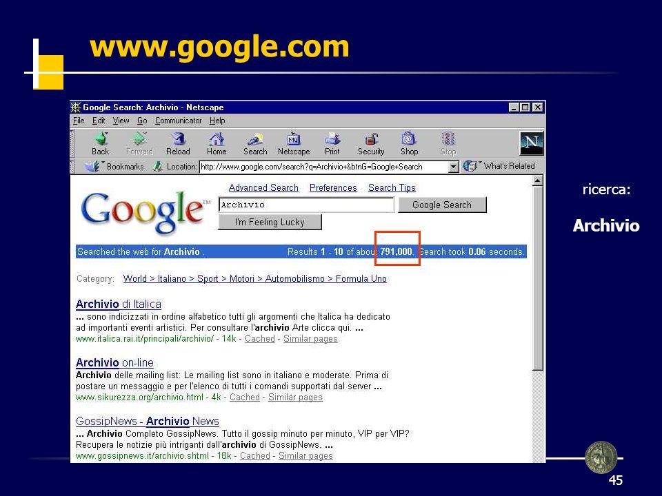 46 www.google.com (2) ricerca: Archivio di Stato