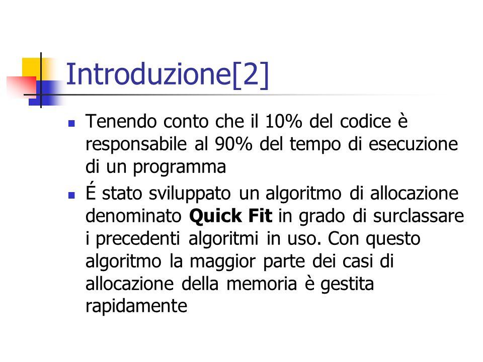 Introduzione[2] Tenendo conto che il 10% del codice è responsabile al 90% del tempo di esecuzione di un programma É stato sviluppato un algoritmo di a
