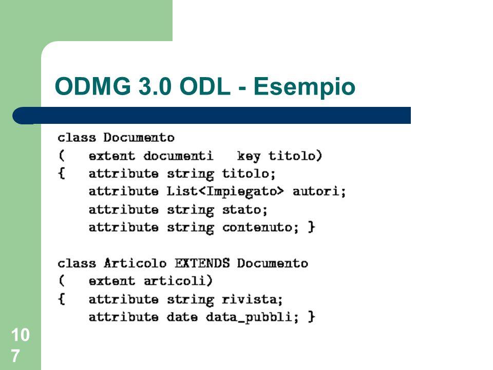 107 ODMG 3.0 ODL - Esempio