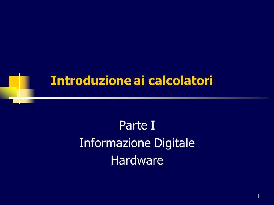 2 Lera del digitale Calcolatore memorizzazione di informazioni elaborazione di informazioni Precondizione: rappresentare in una forma gestibile dal calcolatore diversi tipi di informazione (convenzione) Codifica digitale