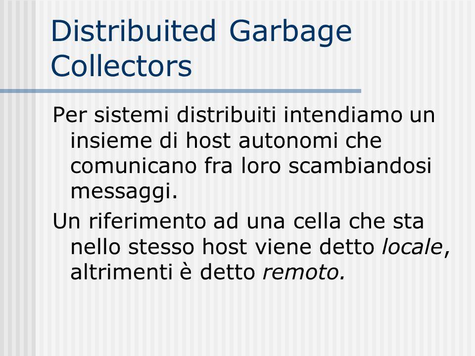 Distribuited Garbage Collectors Per sistemi distribuiti intendiamo un insieme di host autonomi che comunicano fra loro scambiandosi messaggi. Un rifer