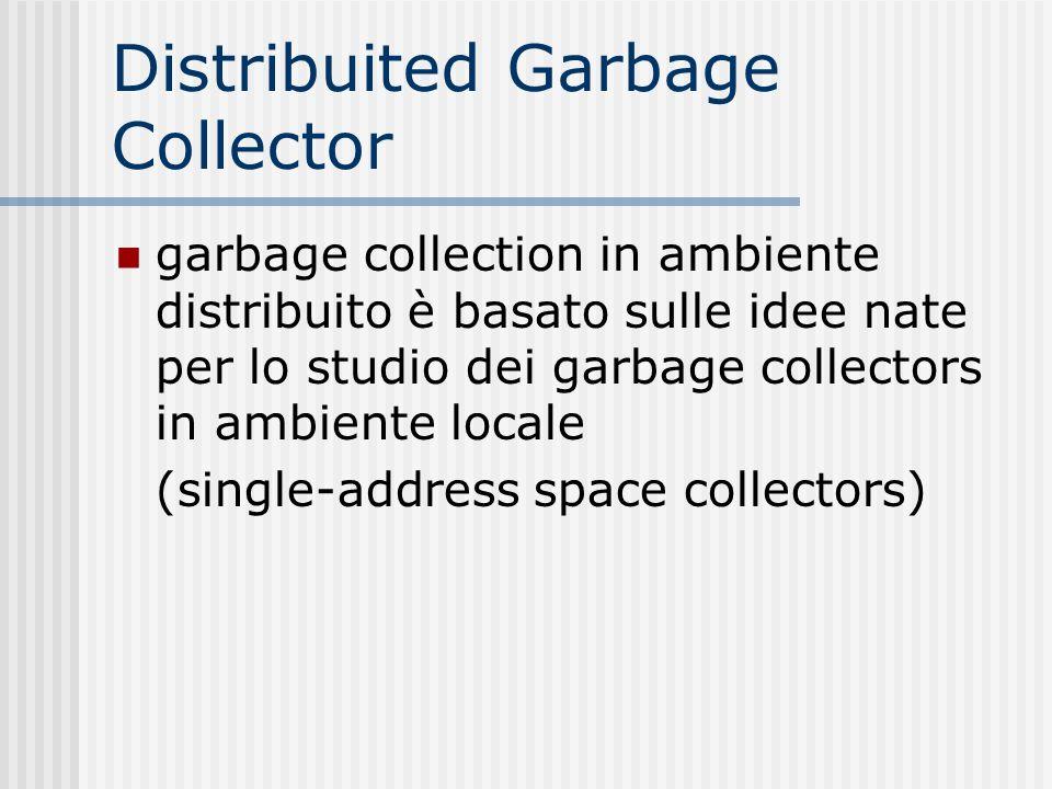 Distribuited Garbage Collector garbage collection in ambiente distribuito è basato sulle idee nate per lo studio dei garbage collectors in ambiente lo