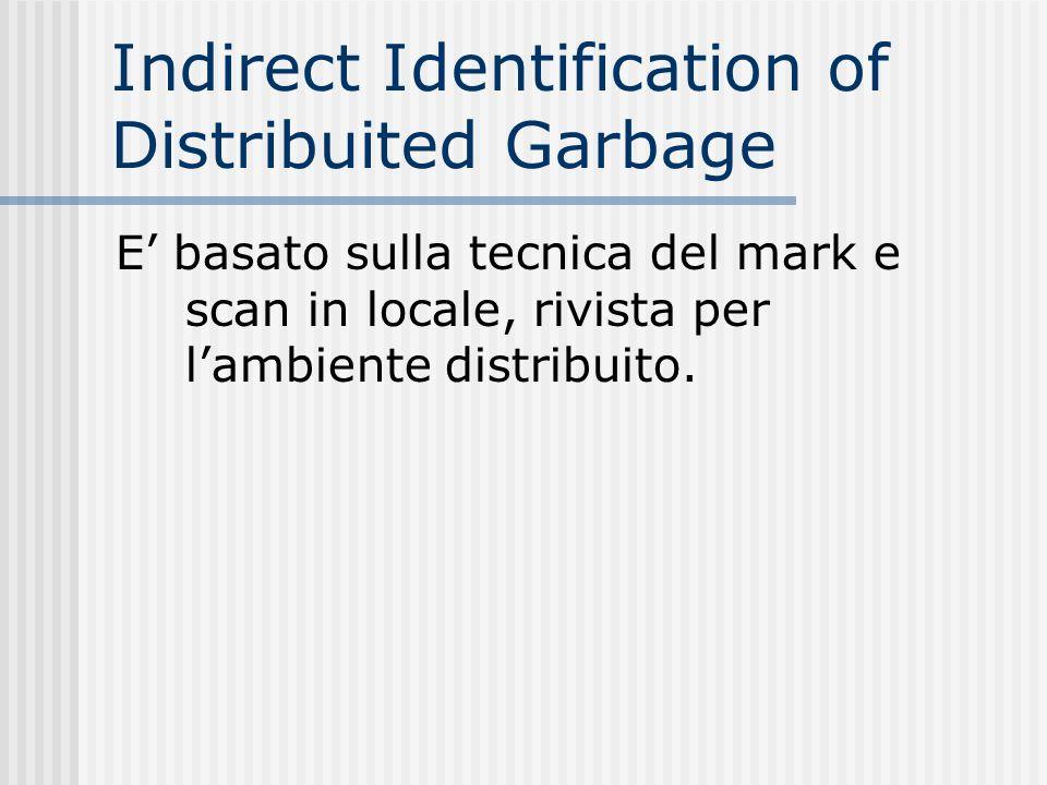 Indirect Identification of Distribuited Garbage E basato sulla tecnica del mark e scan in locale, rivista per lambiente distribuito.