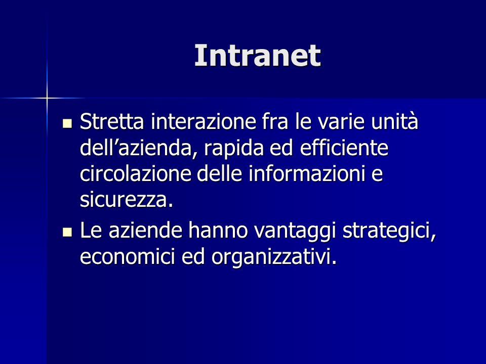 Stretta interazione fra le varie unità dellazienda, rapida ed efficiente circolazione delle informazioni e sicurezza.