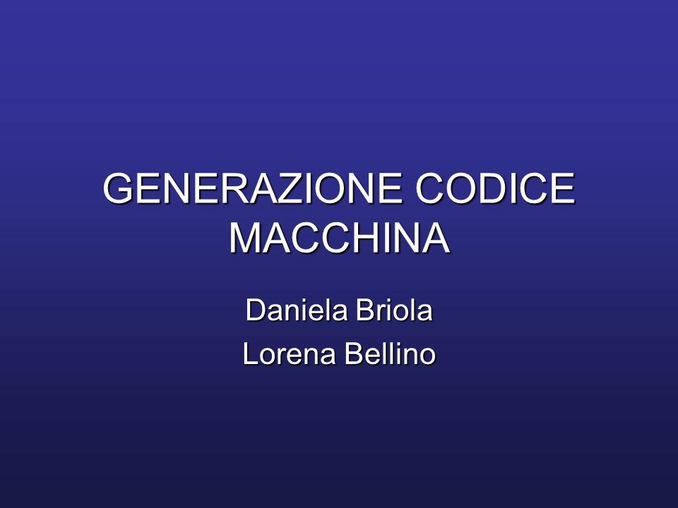 Generazione codice da albero etichettato Procedura gencode(n): produce codice macchina valutando i sottoalberi di T con radice n.Procedura gencode(n): produce codice macchina valutando i sottoalberi di T con radice n.