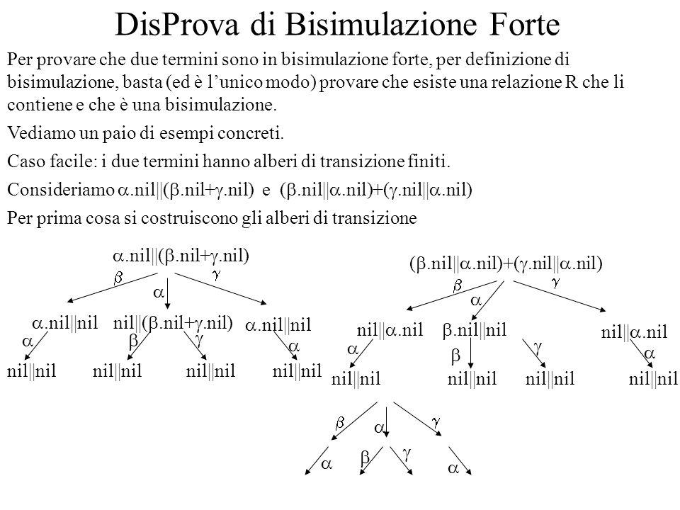 Ultimo passo si dovrebbe provare che R è effettivamente una relazione (ma dati gli alberi è una banalità) Prove di ~: Caso difficile I due termini han