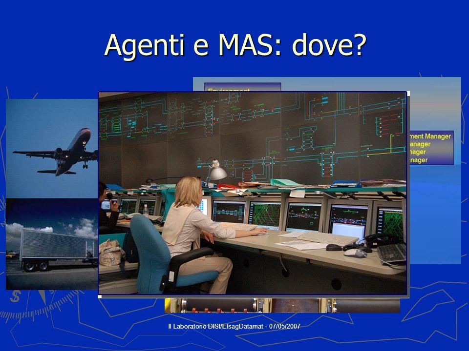 Il Laboratorio DISI/ElsagDatamat - 07/05/2007 Agenti e MAS: dove