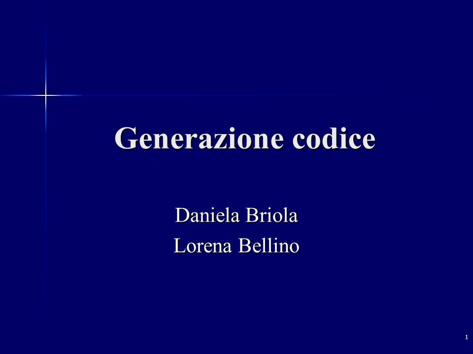 1 Generazione codice Daniela Briola Lorena Bellino