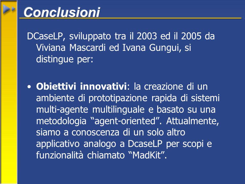 DCaseLP, sviluppato tra il 2003 ed il 2005 da Viviana Mascardi ed Ivana Gungui, si distingue per: Obiettivi innovativi: la creazione di un ambiente di prototipazione rapida di sistemi multi-agente multilinguale e basato su una metodologia agent-oriented.