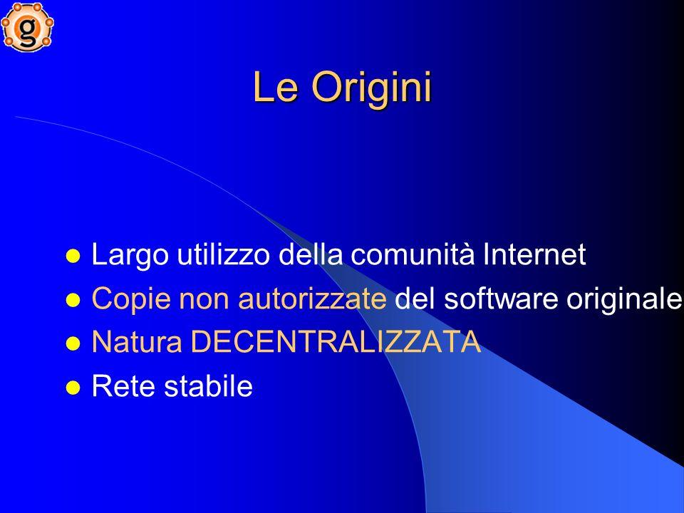 FINE PRIMA PARTE Bibliografia [1] Salvatore Scire – La Rete Gnutella ed il Peer-to-Peer http://www.swzone.it/articoli/gnutella/ [2] Fabrizio Cornelli – Un sistema di sicurezza per ambienti Peer-to-Peer http://seclab.dti.unimi.it/~zeno/tesi.pdf [3] Mirko Innocenti – Reti e applicazioni Peer-to-Peer http://www.disi.unige.it/person/RibaudoM/didattica/infogen/pdf/p2p.p df [4] Forum sinistrefigure.it - Riaa, il terrore della retesinistrefigure.it http://www.sinistrefigure.it/blog/000113.html