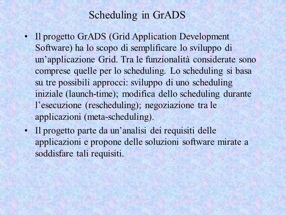 Metascheduling Lo scheduling launch time e il rescheduling considerano le applicazioni una alla volta.