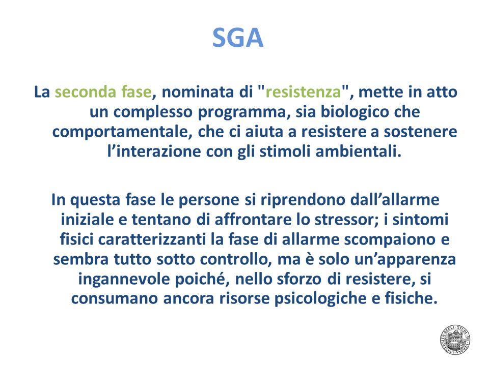 SGA La seconda fase, nominata di