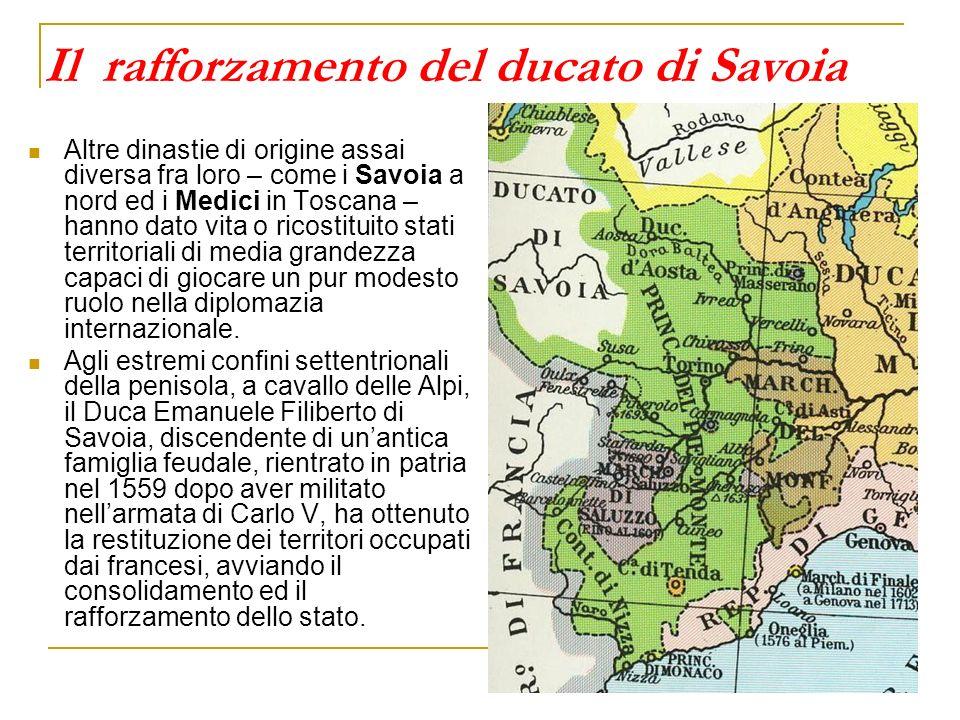 Il ducato di Milano inglobato nel sistema spagnolo Il mutamento più significativo e duraturo del quadro politico italiano è però quello che riconduce più di un terzo della penisola sotto il diretto controllo spagnolo.