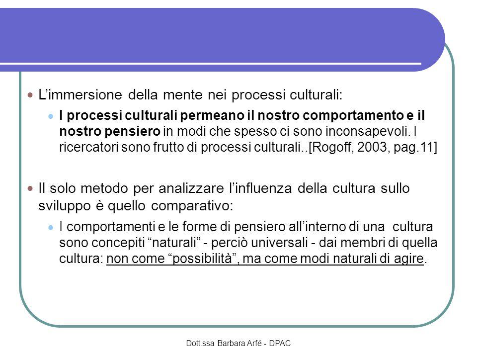 Limmersione della mente nei processi culturali: I processi culturali permeano il nostro comportamento e il nostro pensiero in modi che spesso ci sono