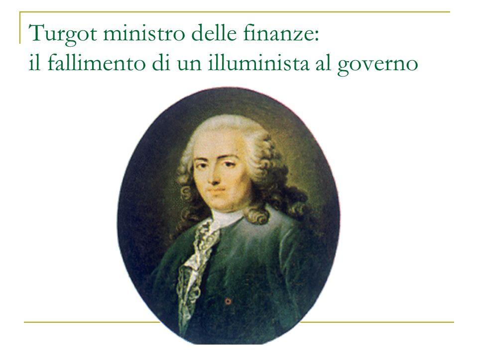 Turgot ministro delle finanze: il fallimento di un illuminista al governo