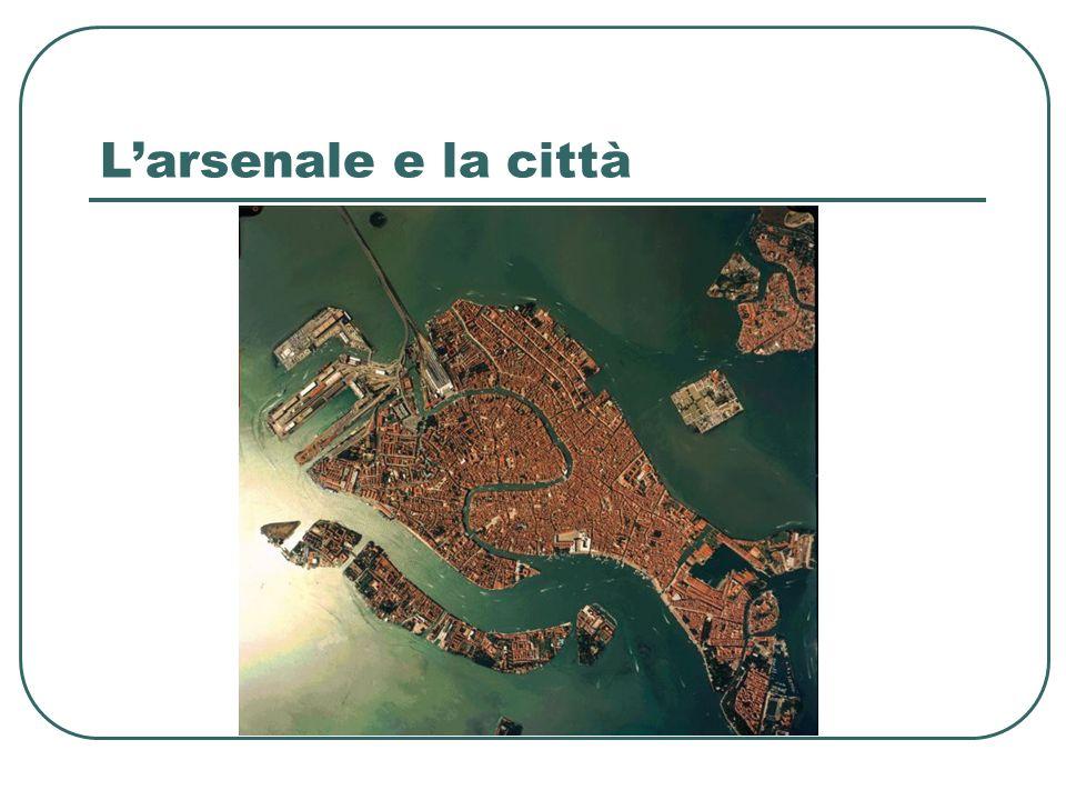 LArsenale vecchio (XIII-XIV sec.) La casa dellArsenal (Arzanà) nasce nel medioevo (1220-1224) come struttura comunale di stoccaggio e conservazione di materiali (Arsenale vecchio) destinati alla flotta commerciale.