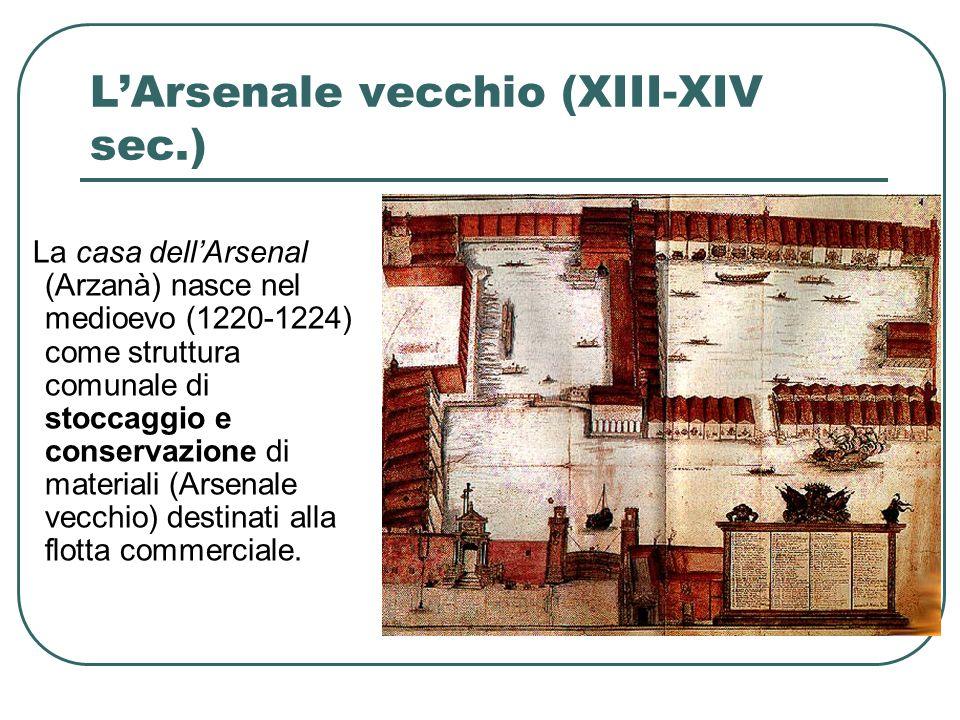 LArsenale vecchio (XIII-XIV sec.) Vi si conservano: 1.