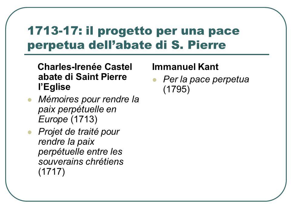 1713-17: il progetto per una pace perpetua dellabate di S.