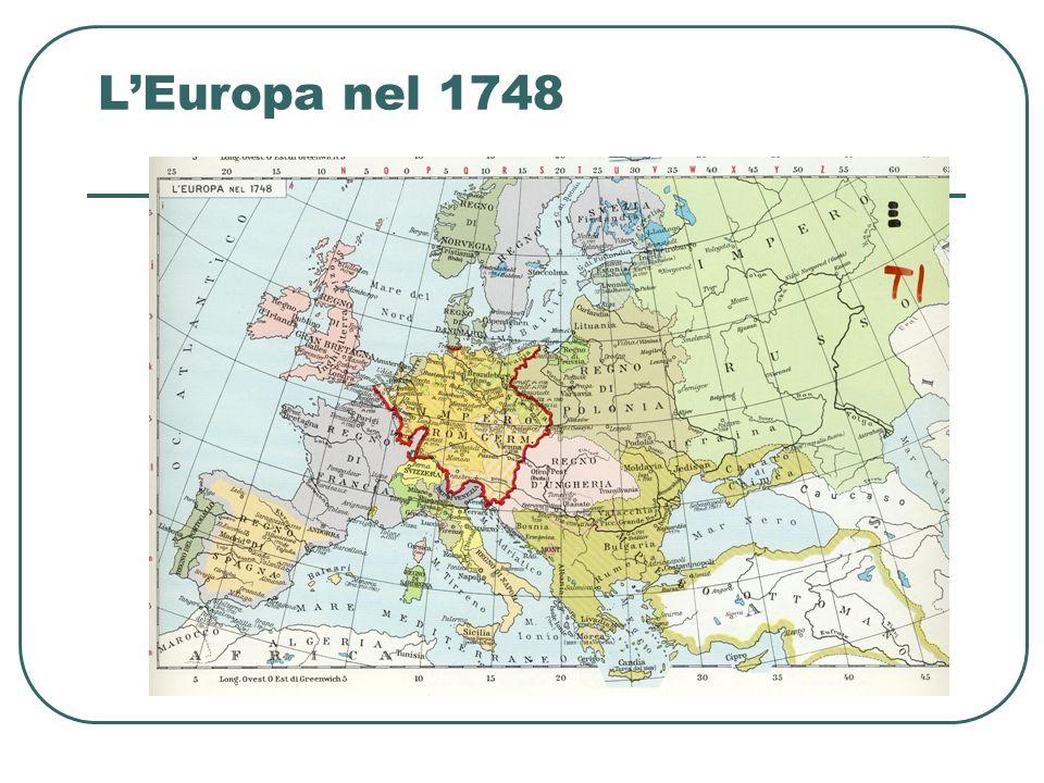 LEuropa nel 1748