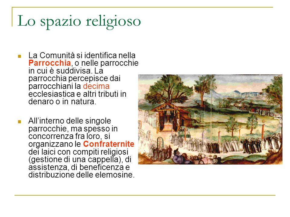 Lo spazio religioso La Comunità si identifica nella Parrocchia, o nelle parrocchie in cui è suddivisa. La parrocchia percepisce dai parrocchiani la de