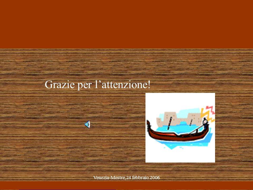 Venezia-Mestre,24 febbraio 2006 Grazie per lattenzione!