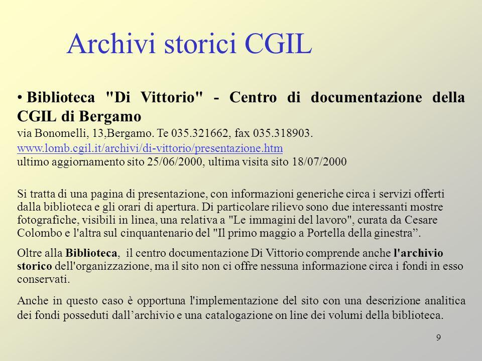 9 Archivi storici CGIL Biblioteca
