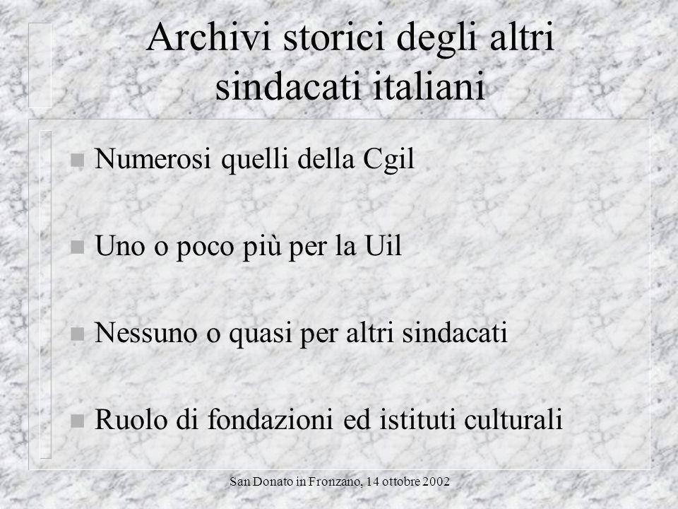 San Donato in Fronzano, 14 ottobre 2002 Questo ne è un esempio Internet e archivi storici sindacali e del lavoro Un primo approccio alle risorse disponibili sulla rete di Enrico Giacinto