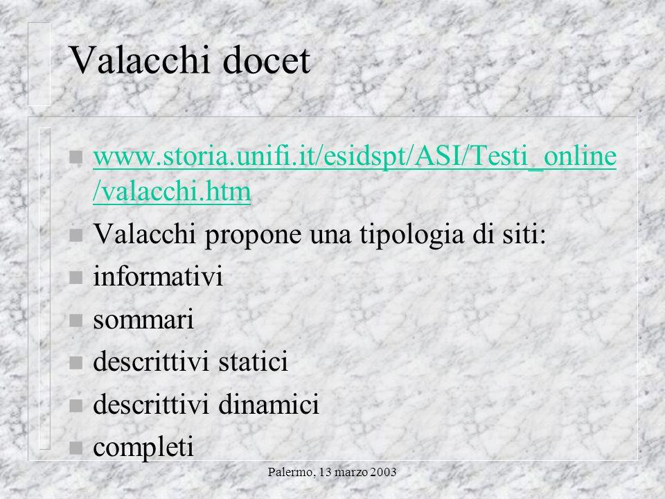 Palermo, 13 marzo 2003 Questo ne è un esempio Internet e archivi storici sindacali e del lavoro Un primo approccio alle risorse disponibili sulla rete